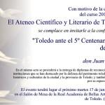 Invitacion Clausura Curso 2013-2014 Ateneo de Toledo